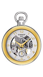 Часы Tissot T853 T-Pocket Pocket Mechanical Skeleton T853.405.29.412.00